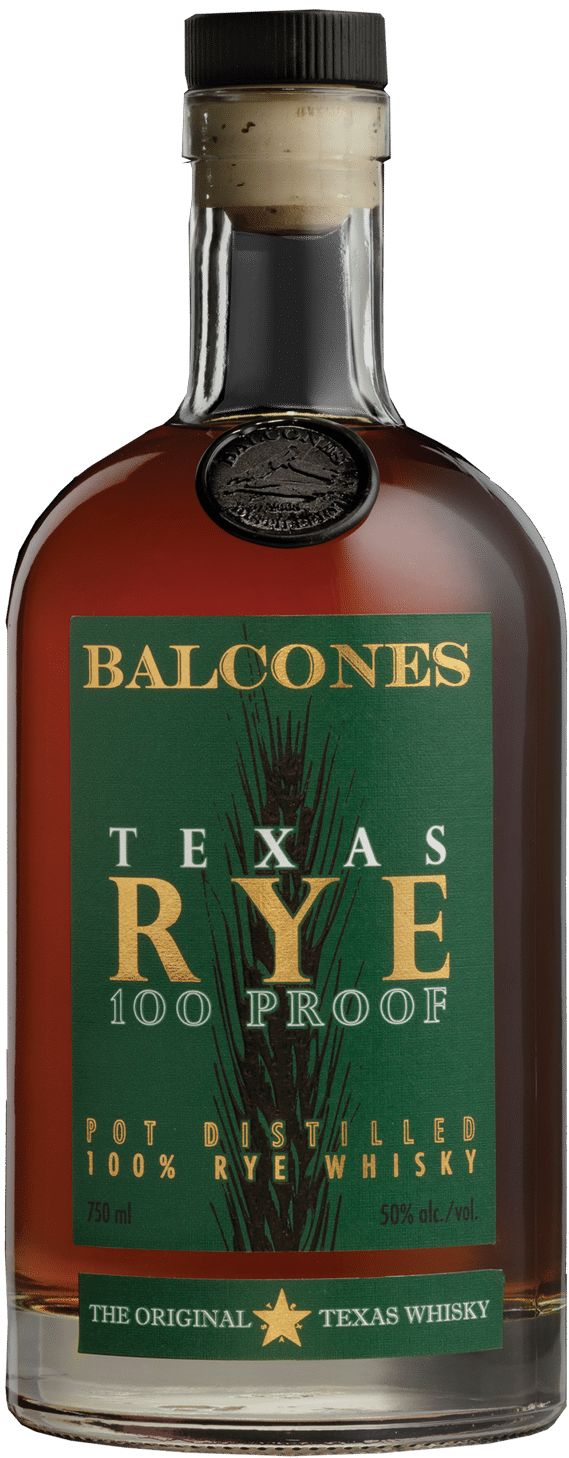 Balcones Texas Rye Whisky Front Bottle Shot