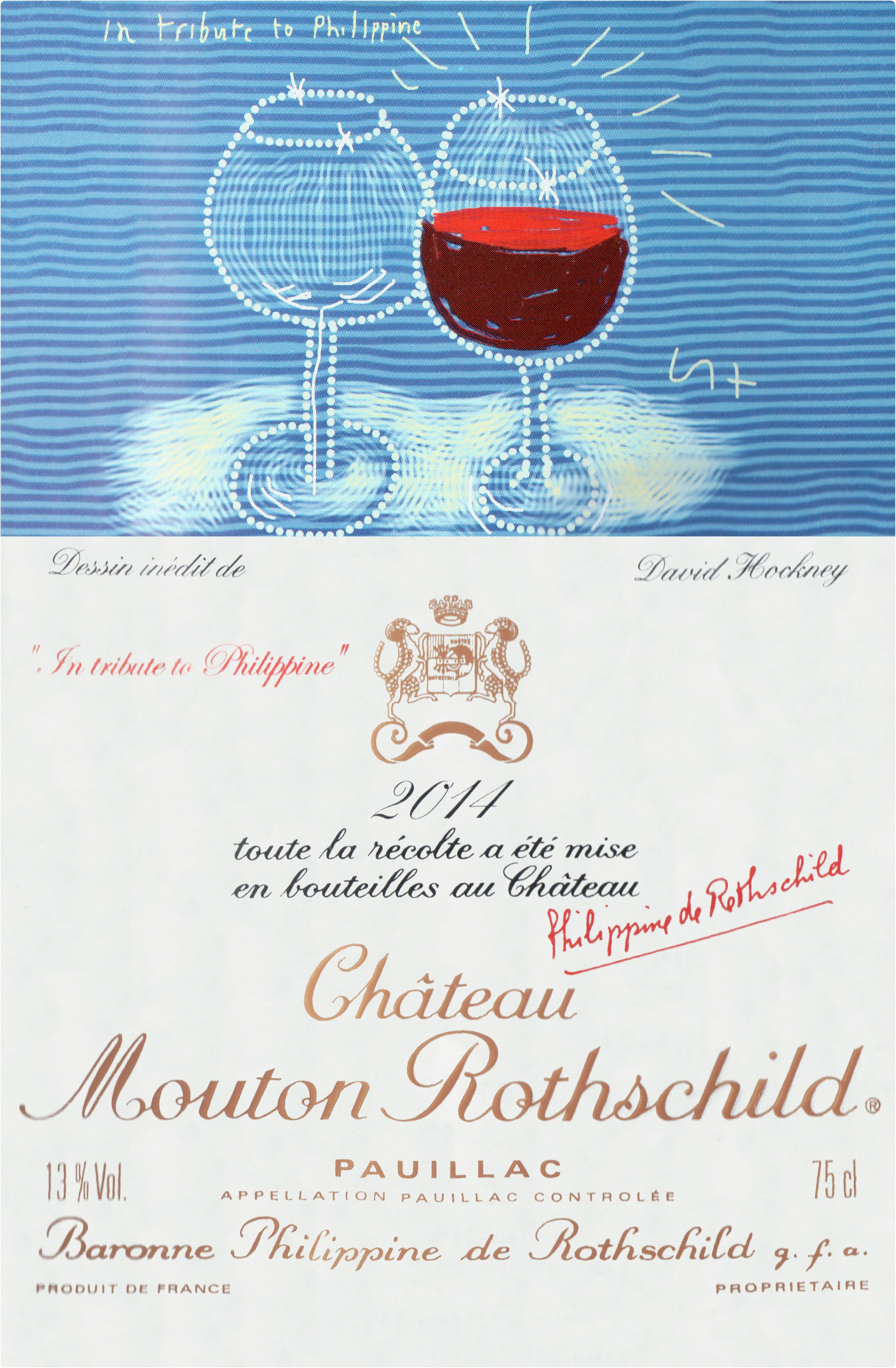 Chateau Mouton Rothschild (1.5 Liter Magnum) 2014  Front Label