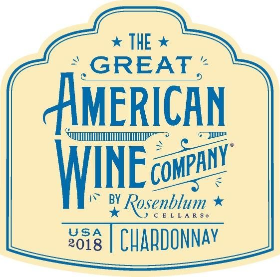 The Great American Wine Company by Rosenblum Chardonnay 2018  Front Label