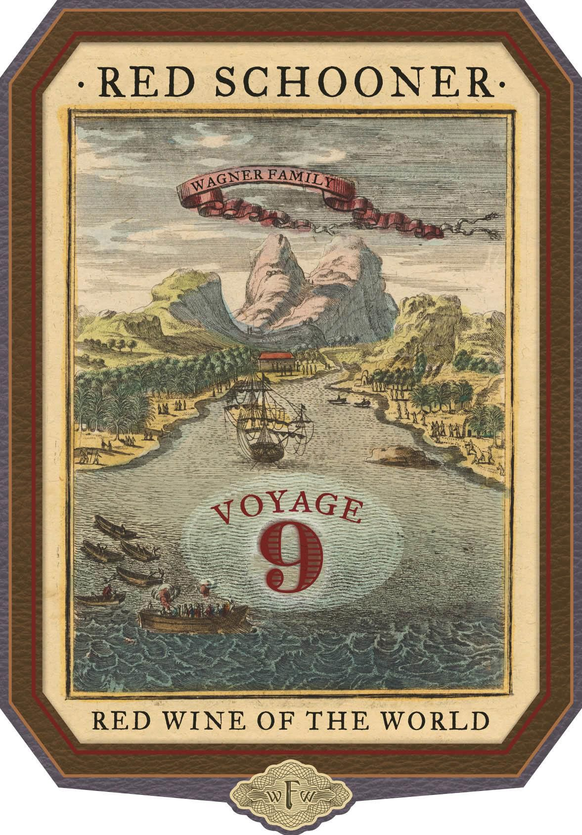 Red Schooner by Caymus Voyage 9  Front Label