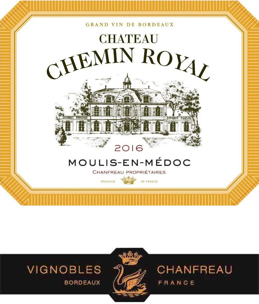 Chateau Chemin Royal  2016  Front Label
