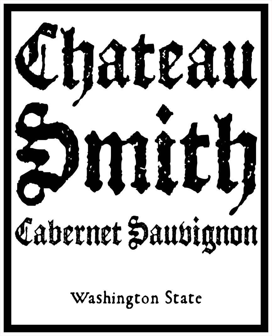 Charles Smith Wines Chateau Smith Cabernet Sauvignon 2017 Front Label
