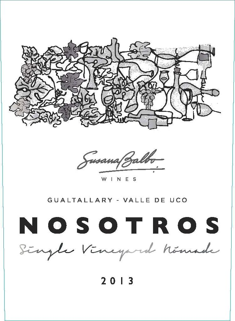 Susana Balbo Nosotros Single Vineyard Nomade Malbec 2013  Front Label