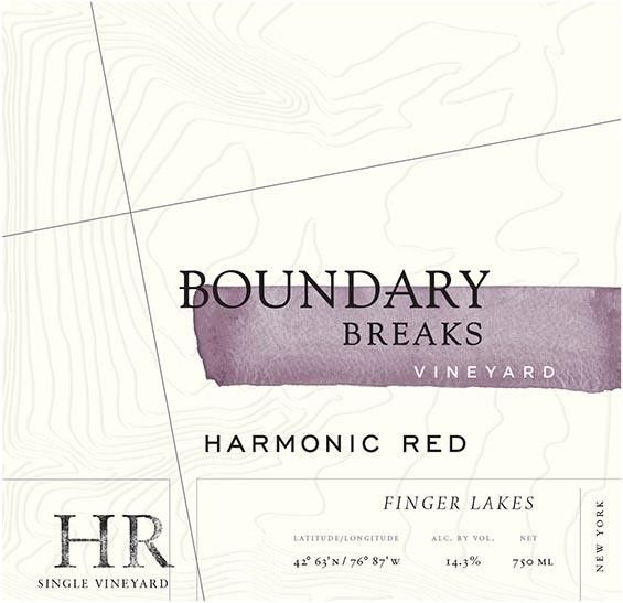Boundary Breaks Harmonic Red 2016  Front Label