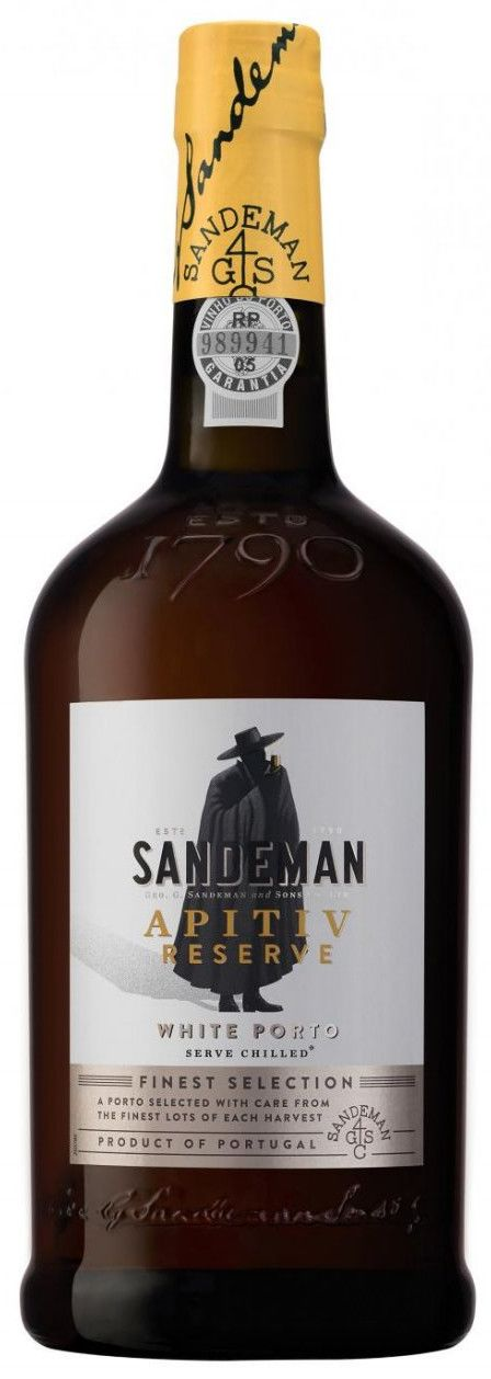Sandeman Apitiv Reserve White Port Front Bottle Shot