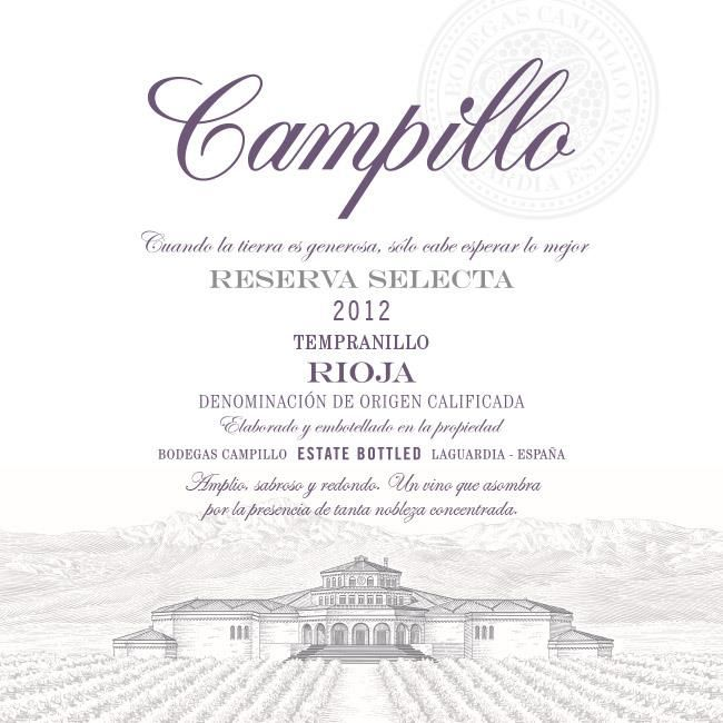 Bodegas Campillo Reserva Selecta 2012  Front Label