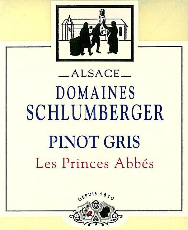 Domaines Schlumberger Les Princes Abbes Pinot Gris 2016 Front Label