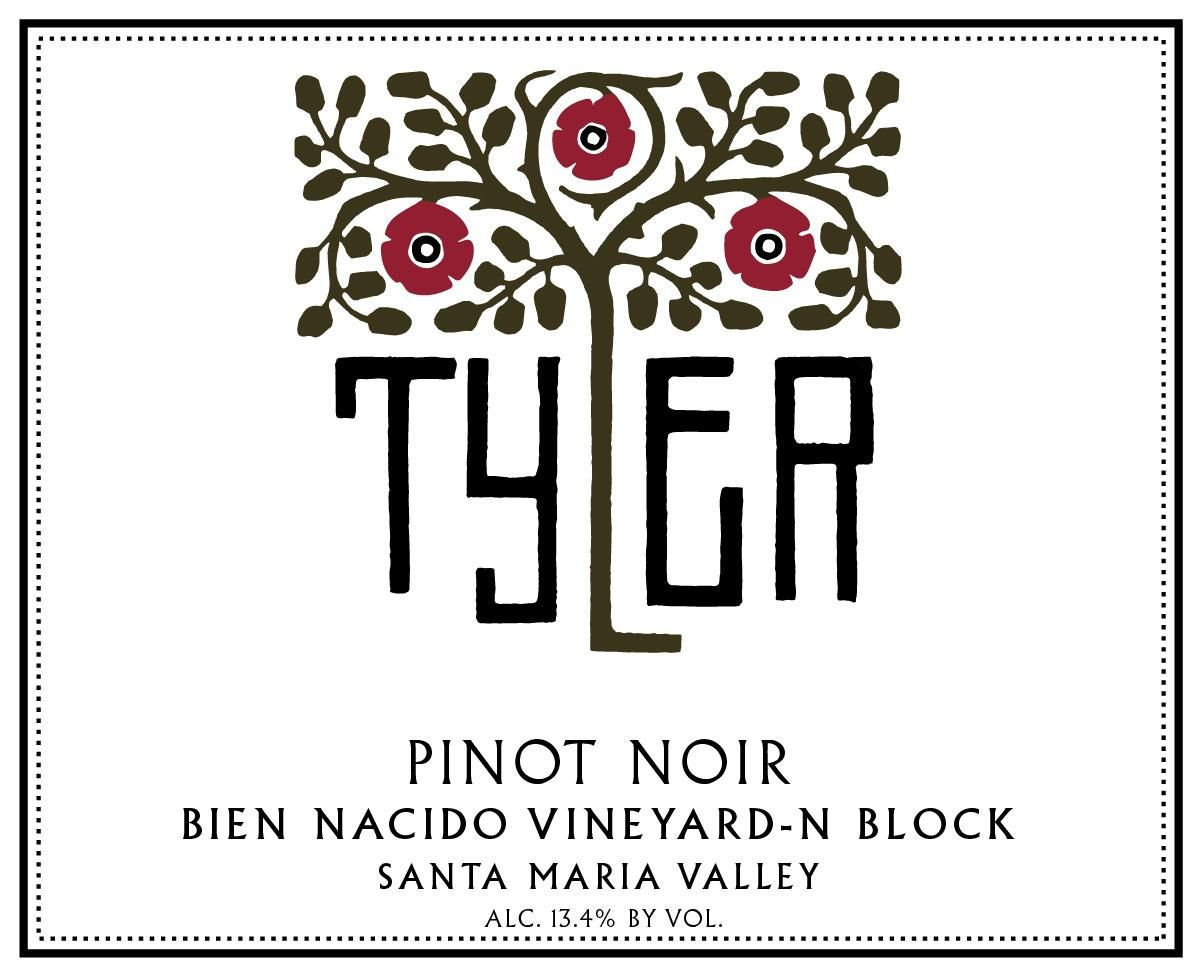 Tyler Winery Bien Nacido Vineyard N Block Pinot Noir 2016 Front Label