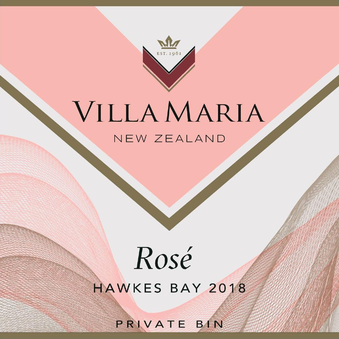 Villa Maria Private Bin Rose 2018  Front Label