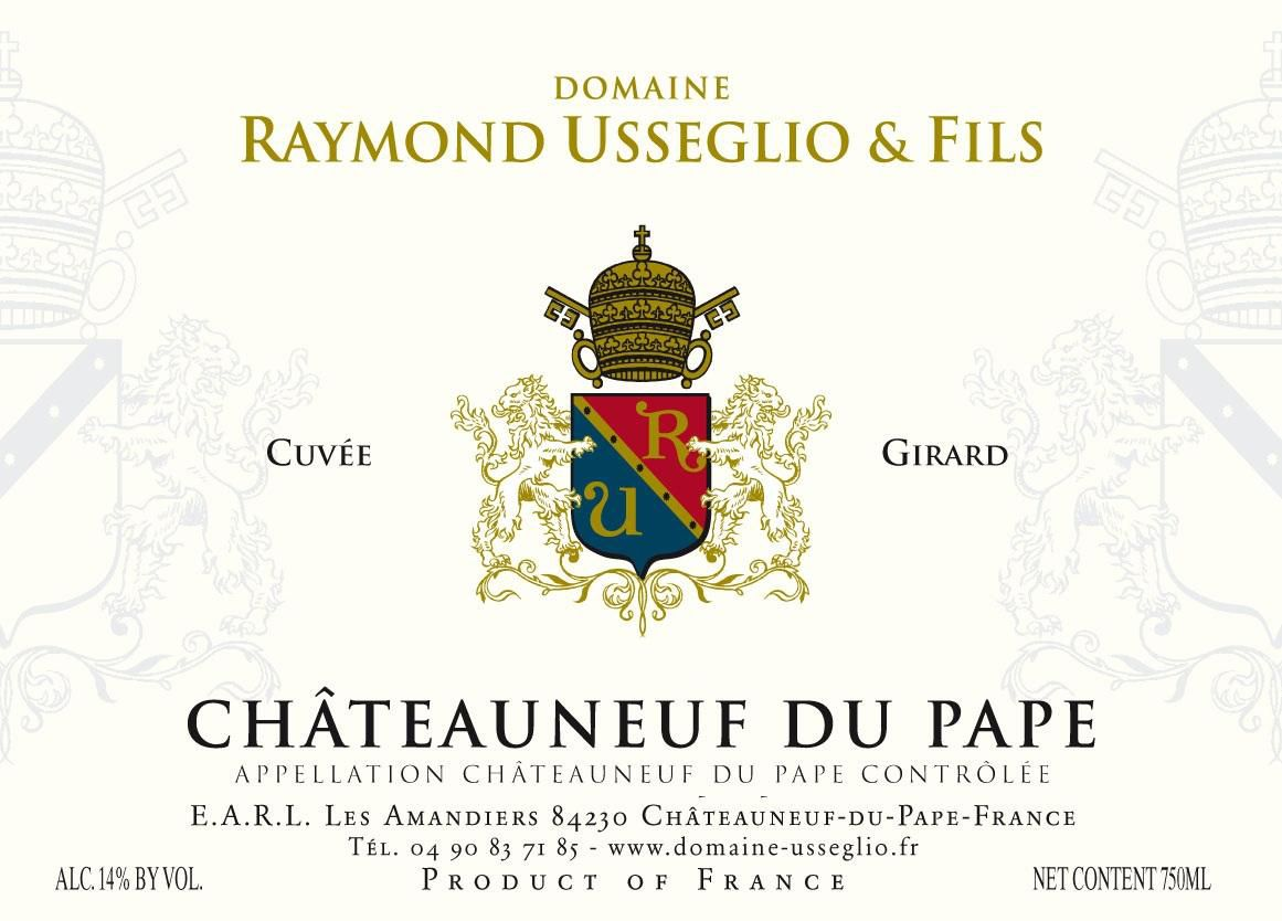 Domaine Raymond Usseglio Chateauneuf-du-Pape Girard 2018  Front Label