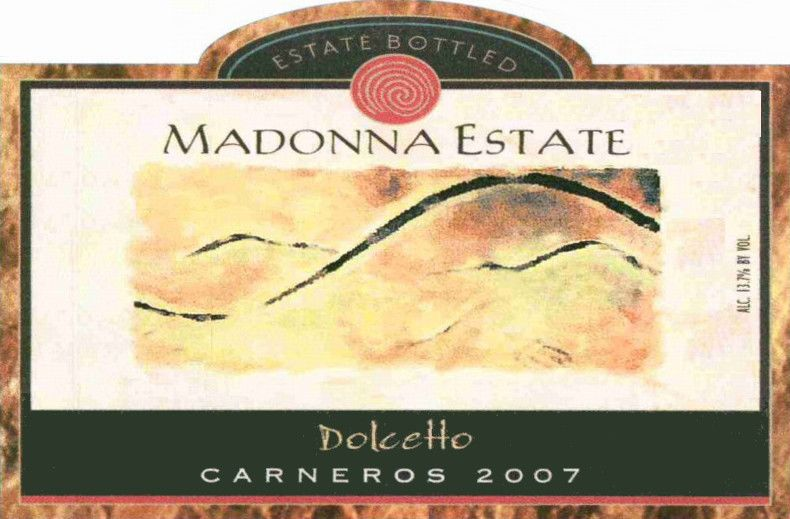Madonna Estate Dolcetto 2007  Front Label