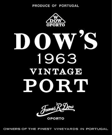 Dow's Vintage Port 1963 Front Label
