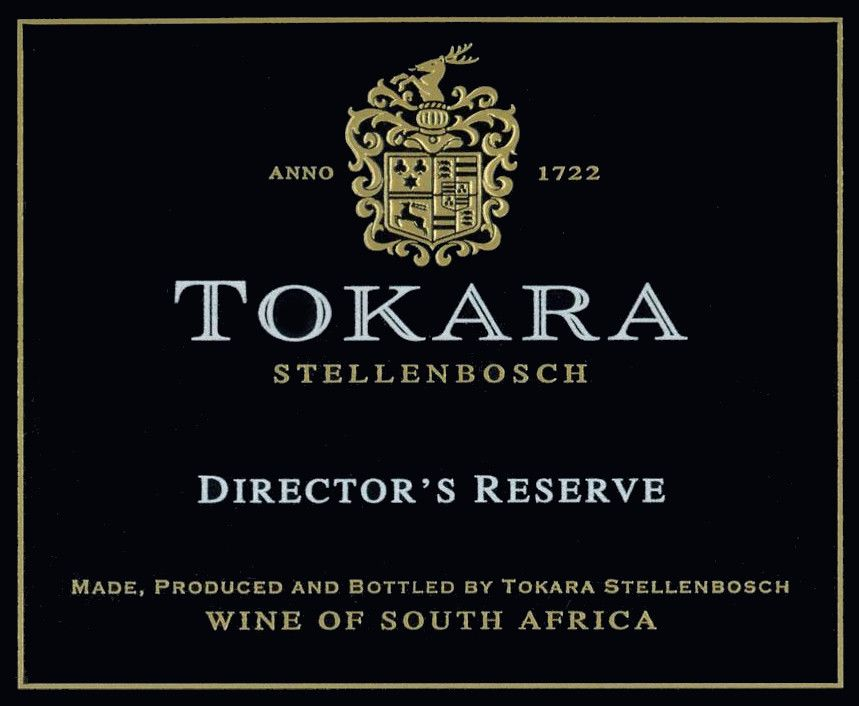 Tokara Director's Reserve White 2016  Front Label