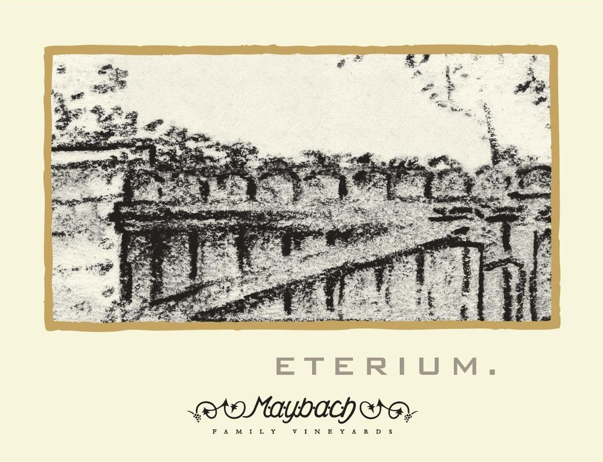 Maybach Family Vineyards Eterium Chardonnay 2015  Front Label