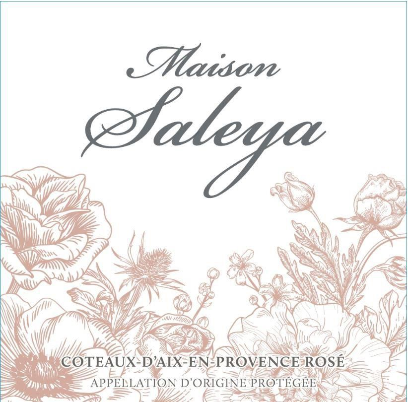 Maison Saleya Rose 2019  Front Label