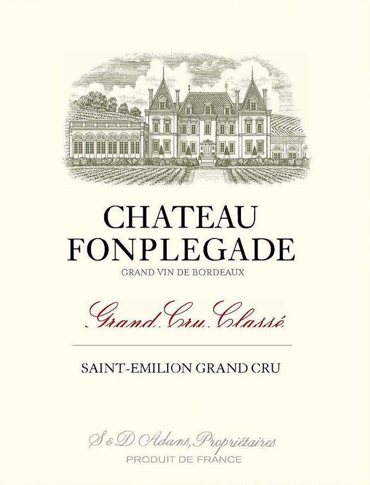 Chateau Fonplegade (Futures Pre-Sale) 2018  Front Label