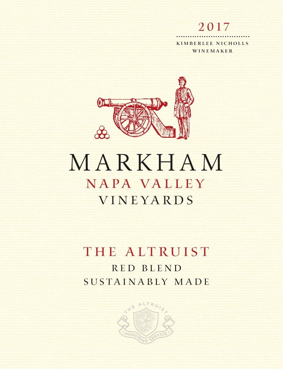 Markham The Altruist Red Blend 2017  Front Label