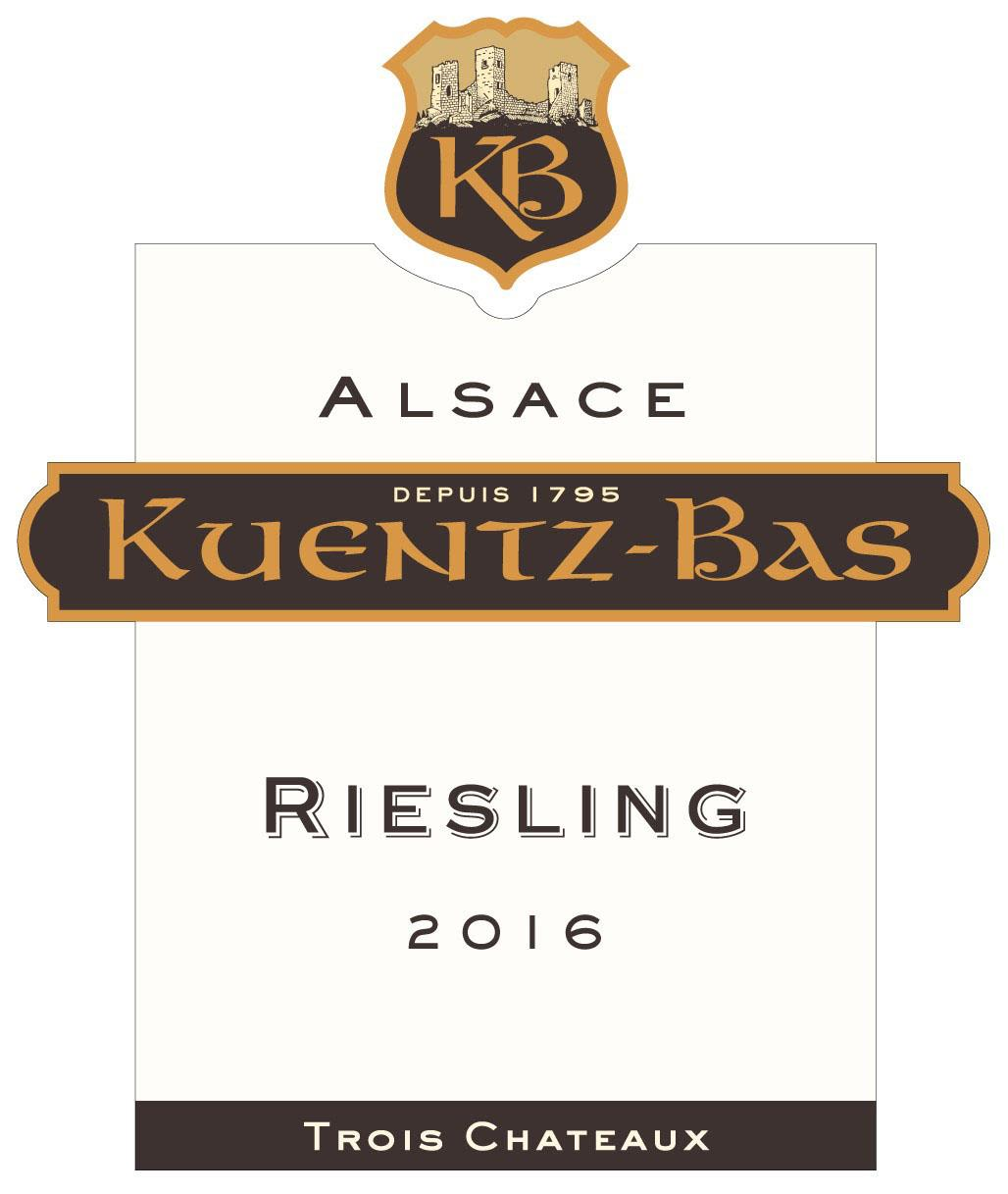 Kuentz-Bas Trois Chateaux Riesling 2016  Front Label