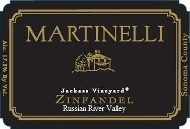 Martinelli Jackass Vineyard Zinfandel 2017 Front Label