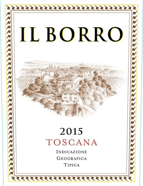 Il Borro  2015 Front Label