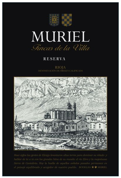 Bodegas Muriel Reserva 2015  Front Label