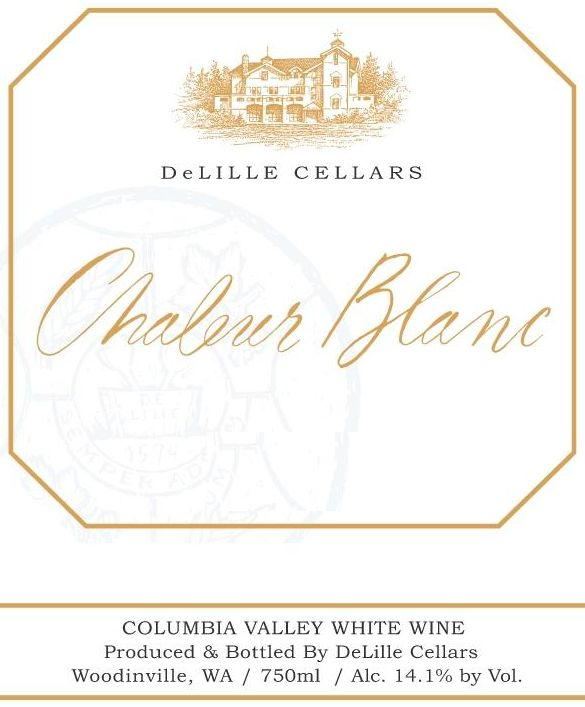 DeLille Chaleur Estate Blanc 2017  Front Label