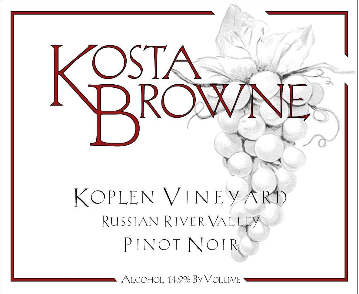 Kosta Browne Koplen Vineyard Pinot Noir 2007  Front Label