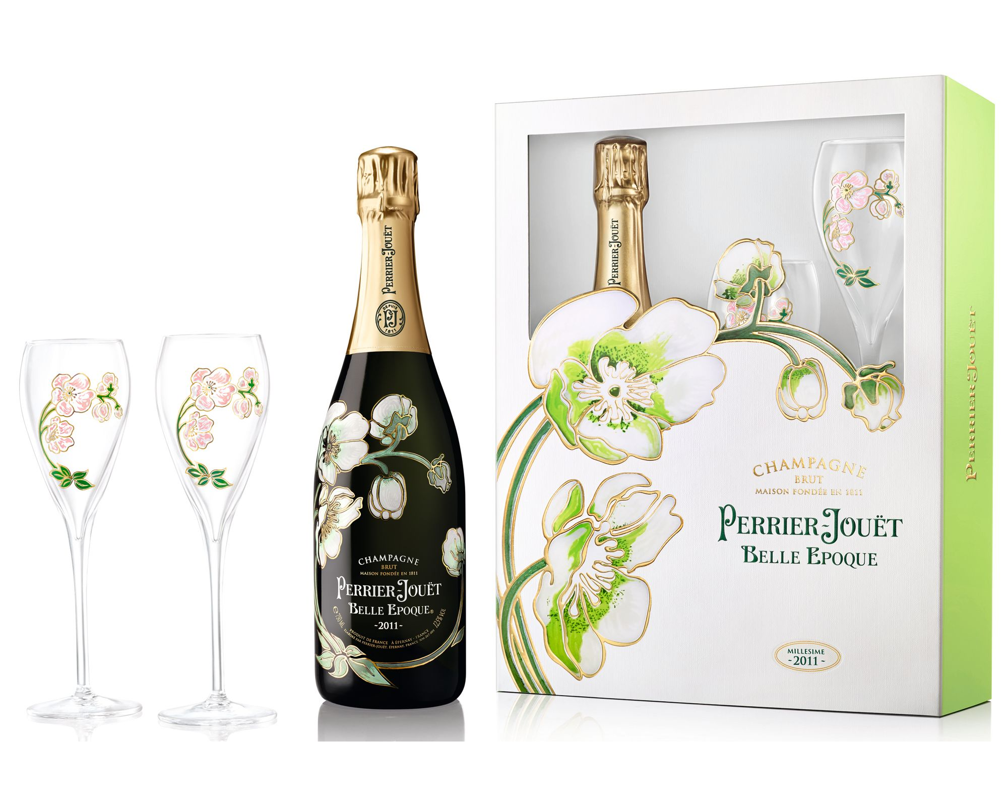 Perrier-Jouet Belle Epoque With Glassware Set 2011 Gift Product Image