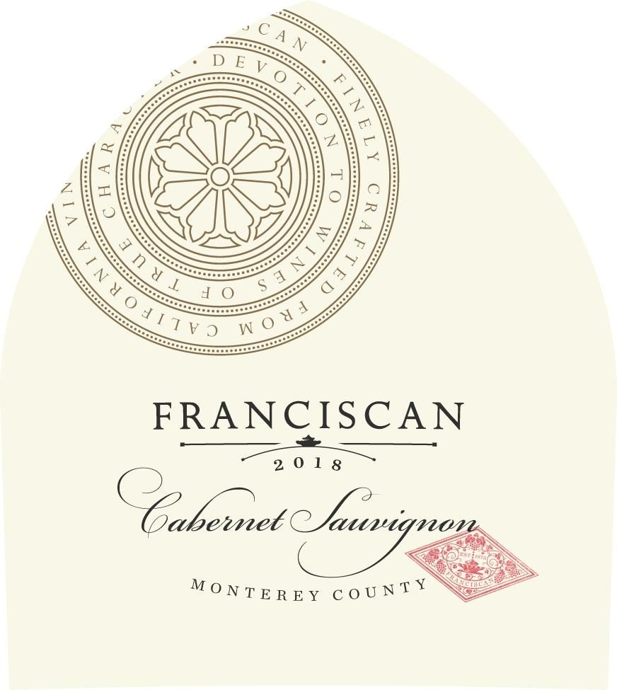 Franciscan Estate Cabernet Sauvignon 2018  Front Label