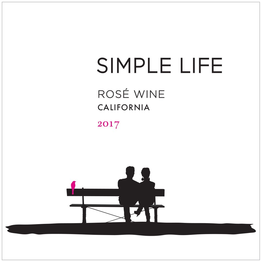 Simple Life Rose 2017  Front Label