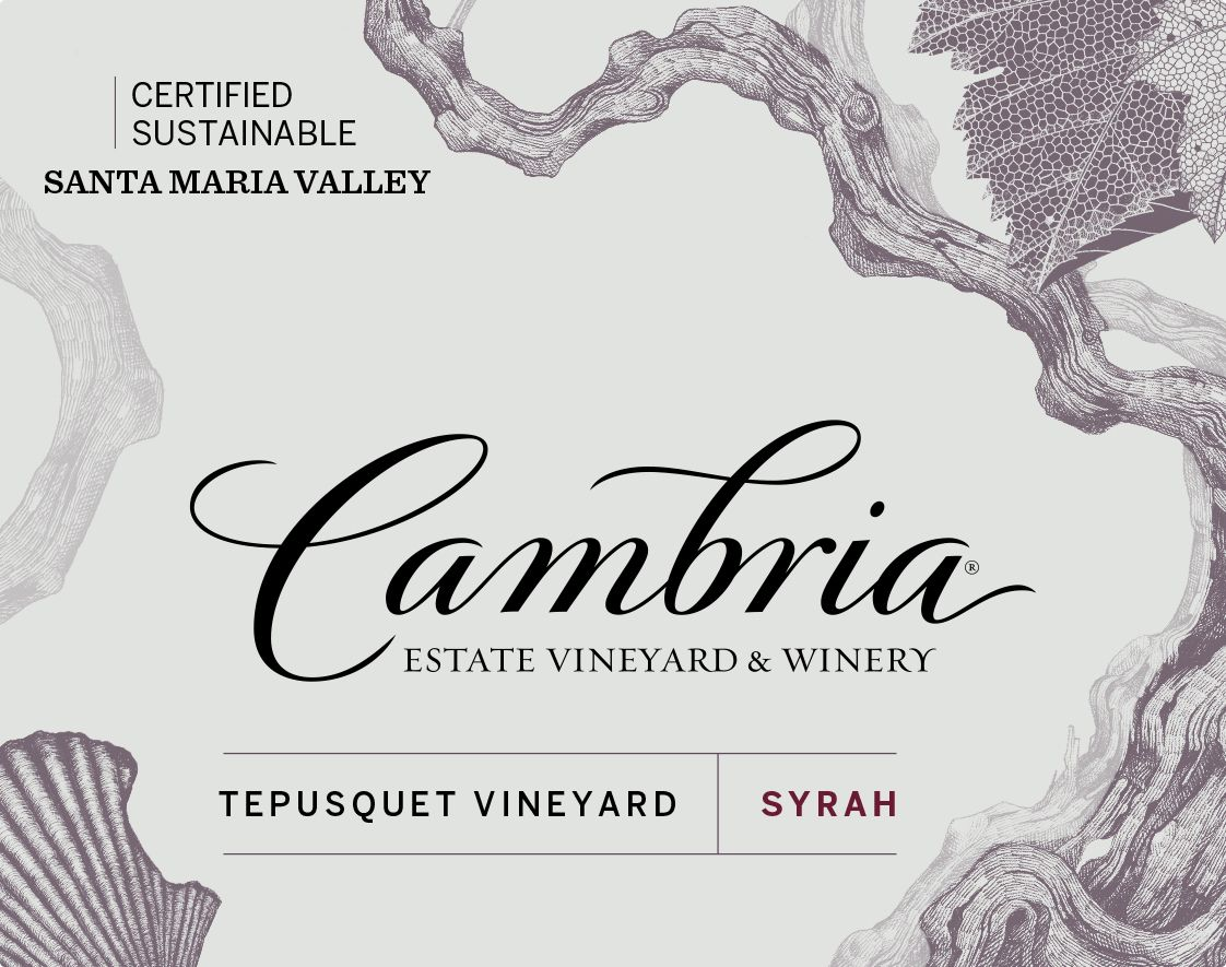 Cambria Tepusquet Vineyard Syrah 2016  Front Label