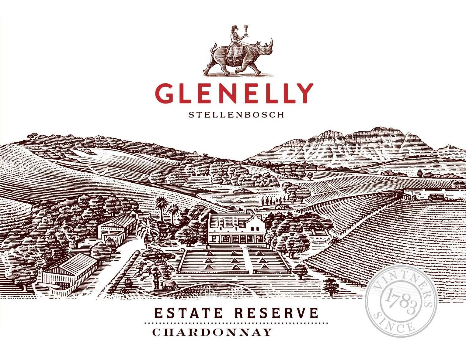 Glenelly Estate Reserve Chardonnay 2018  Front Label