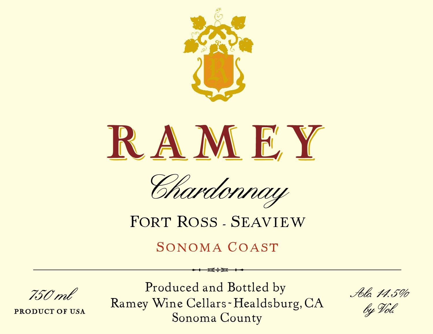 Ramey Fort Ross-Seaview Chardonnay 2017  Front Label