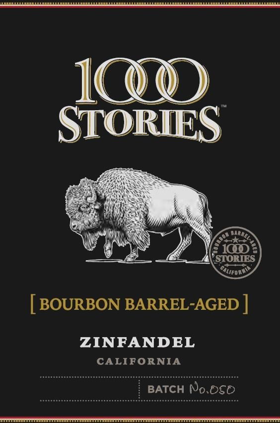 1000 Stories Bourbon Barrel Aged Zinfandel 2017 Front Label