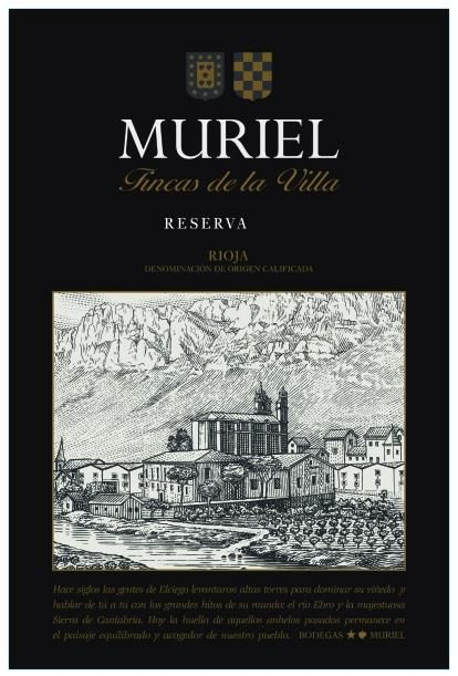 Bodegas Muriel Reserva 2014 Front Label