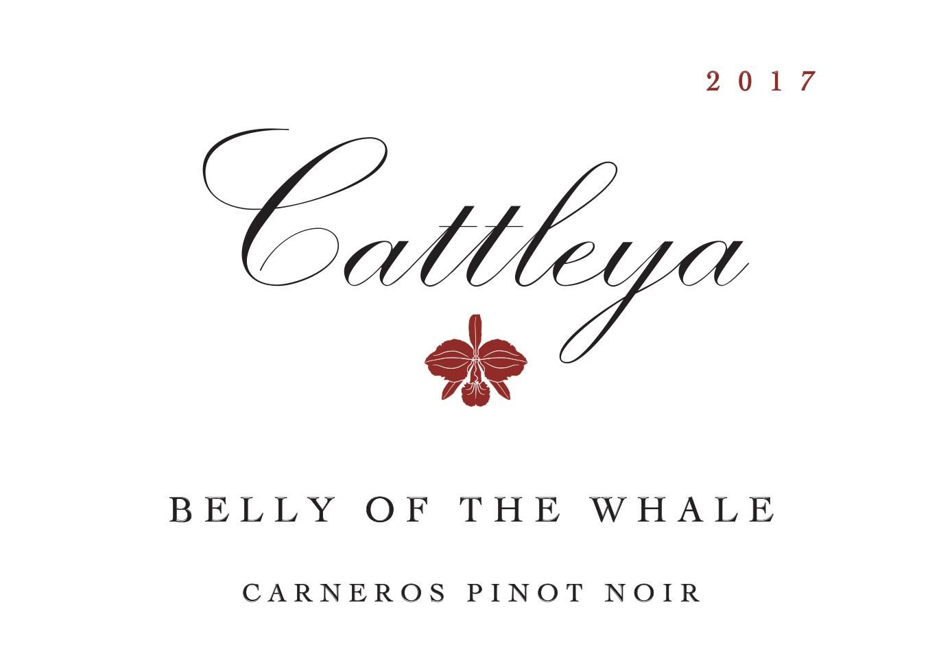 Cattleya Wines Belly of the Whale Pinot Noir 2017  Front Label