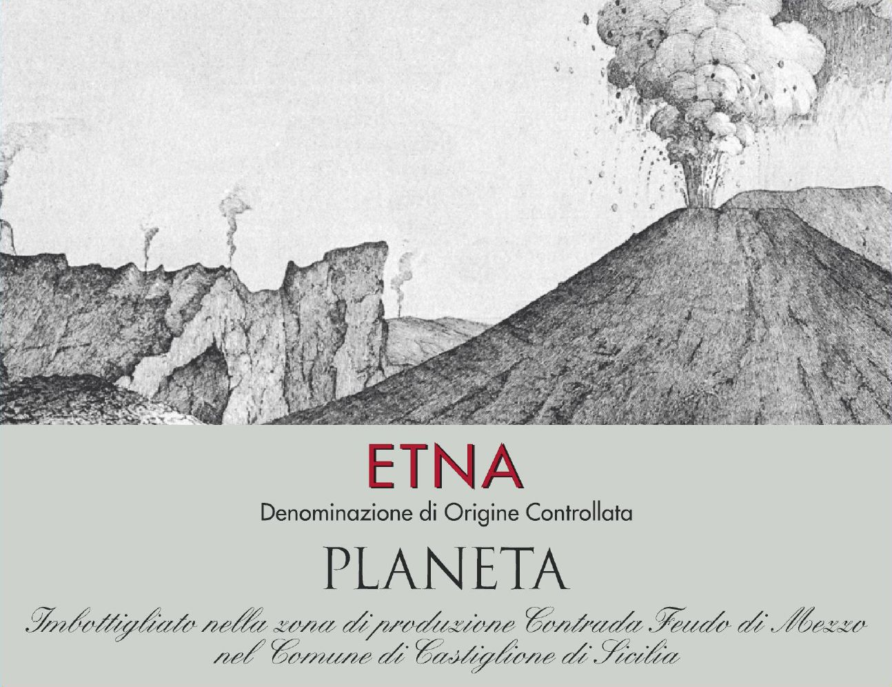 Planeta Etna Rosso 2018  Front Label