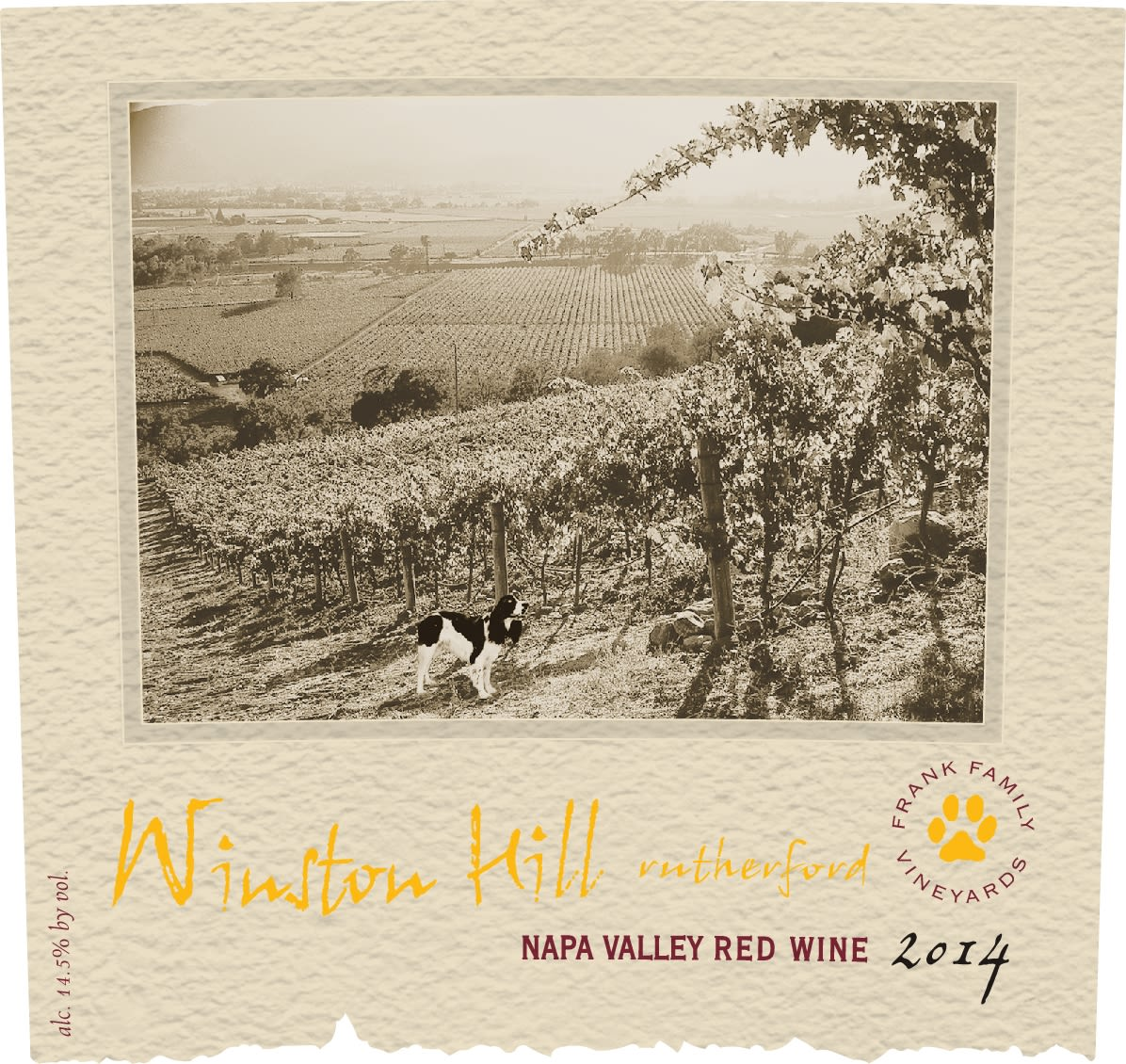Frank Family Vineyards Winston Hill Proprietary Red 2014  Front Label