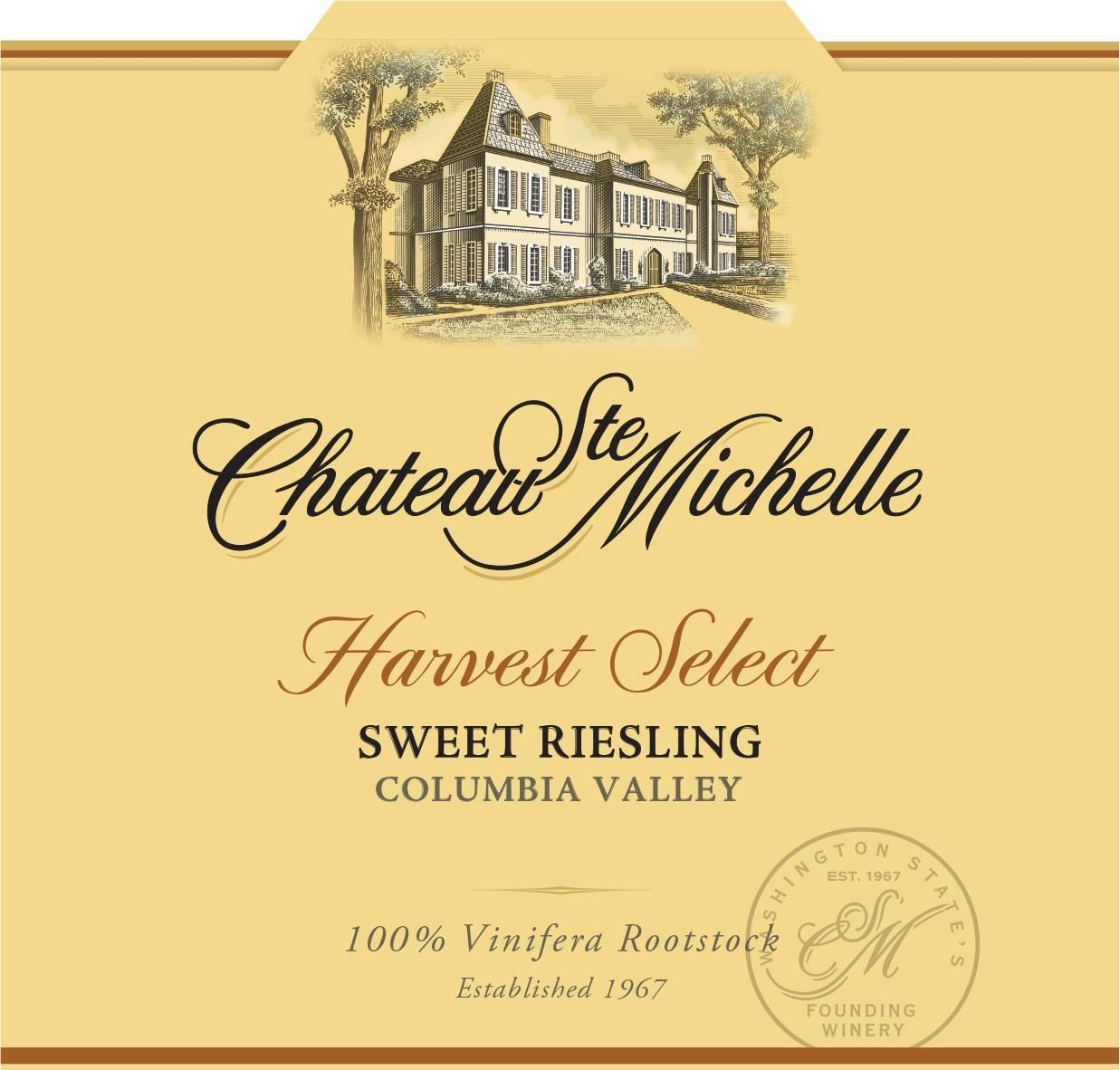 Chateau Ste. Michelle Harvest Select Sweet Riesling 2018  Front Label