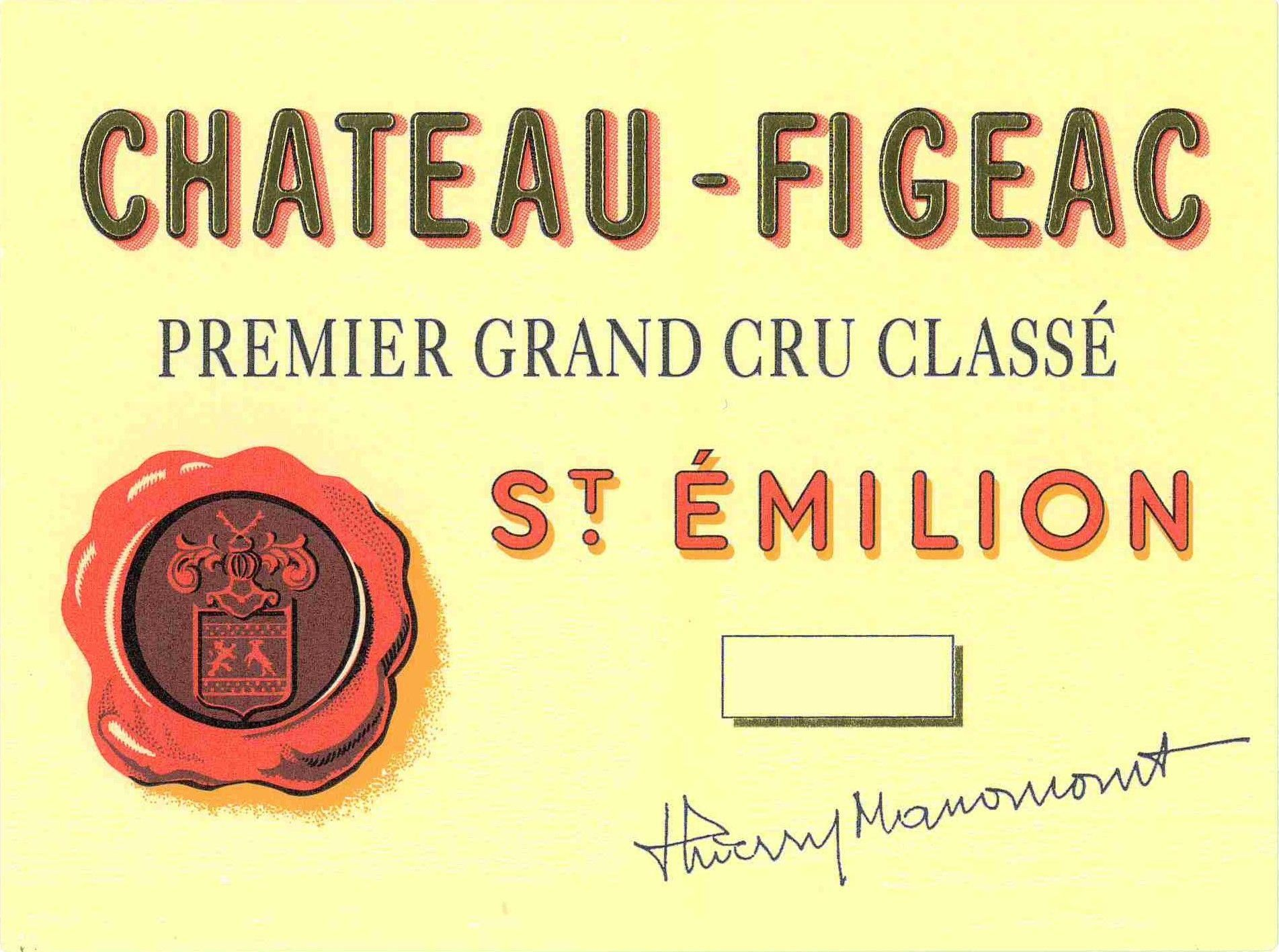 Chateau Figeac (Futures Pre-Sale) 2018  Front Label