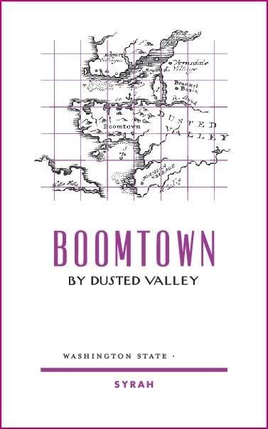 Boomtown by Dusted Valley Syrah 2017 Front Label