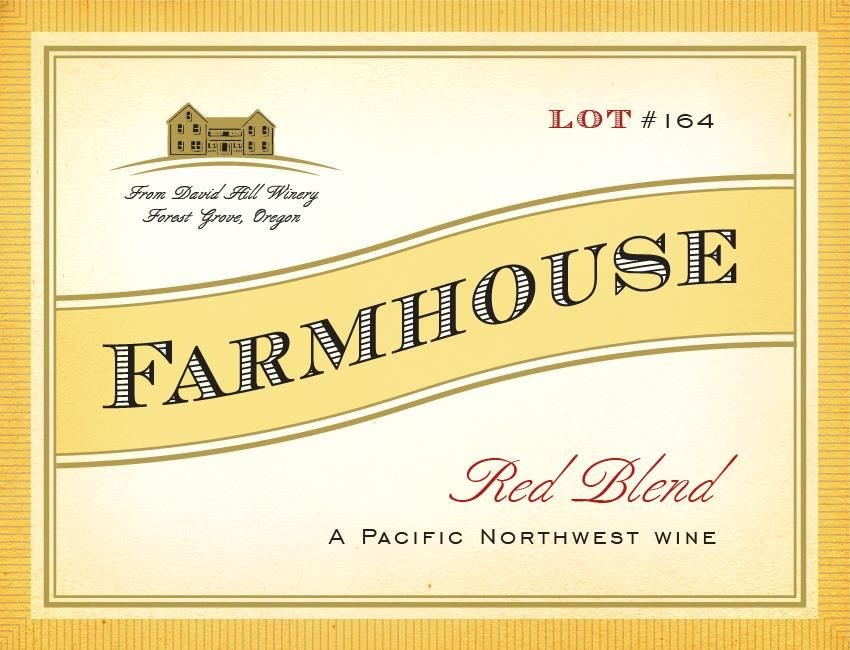 David Hill Winery Farmhouse Red 2016 Front Label
