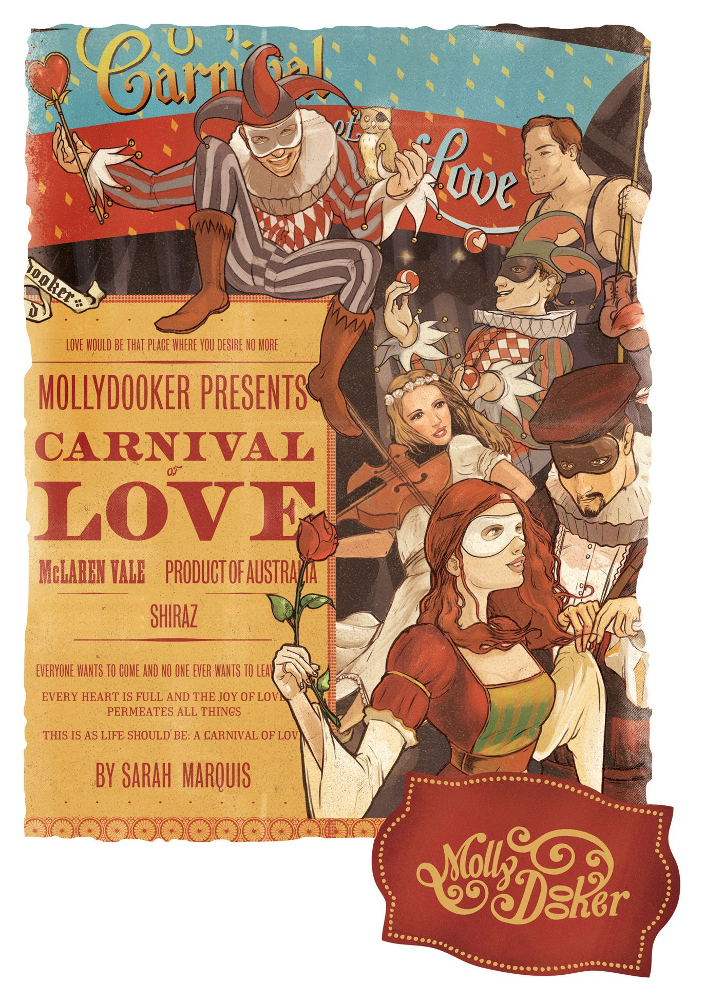 Mollydooker Carnival of Love 2017  Front Label