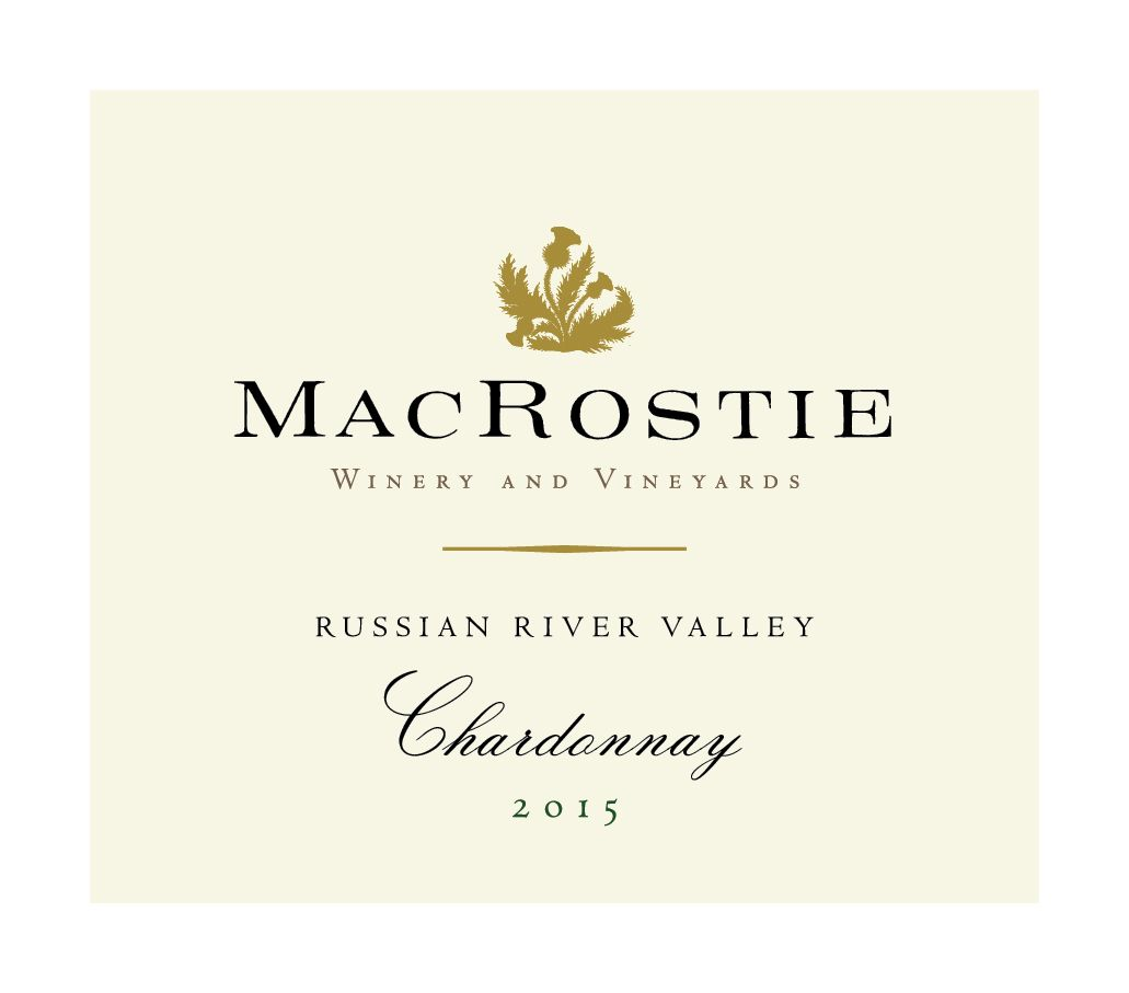 MacRostie Russian River Valley Chardonnay 2015 Front Label