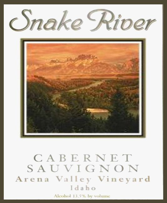 Snake River Winery Arena Vineyard Cabernet Sauvignon 2003 Front Label