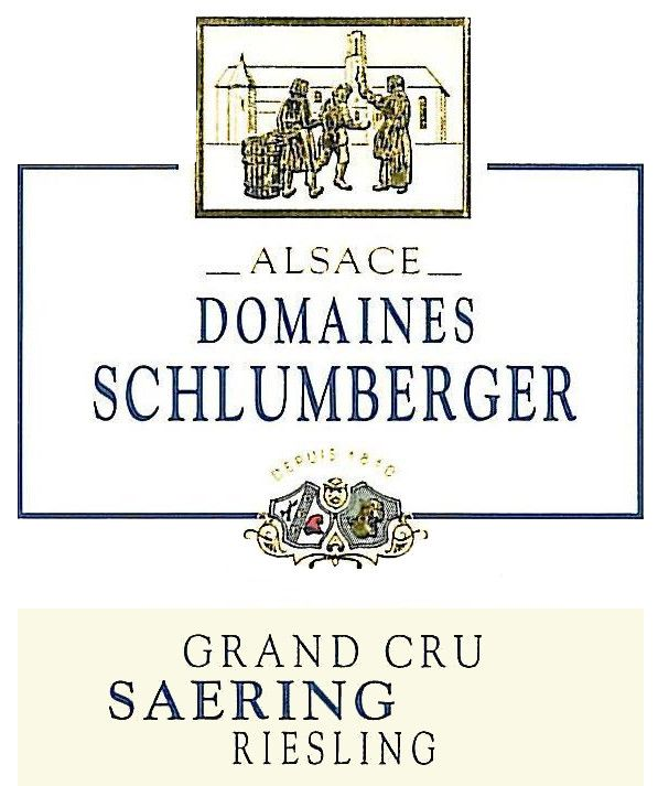 Domaines Schlumberger Grand Cru Saering Riesling 2015 Front Label