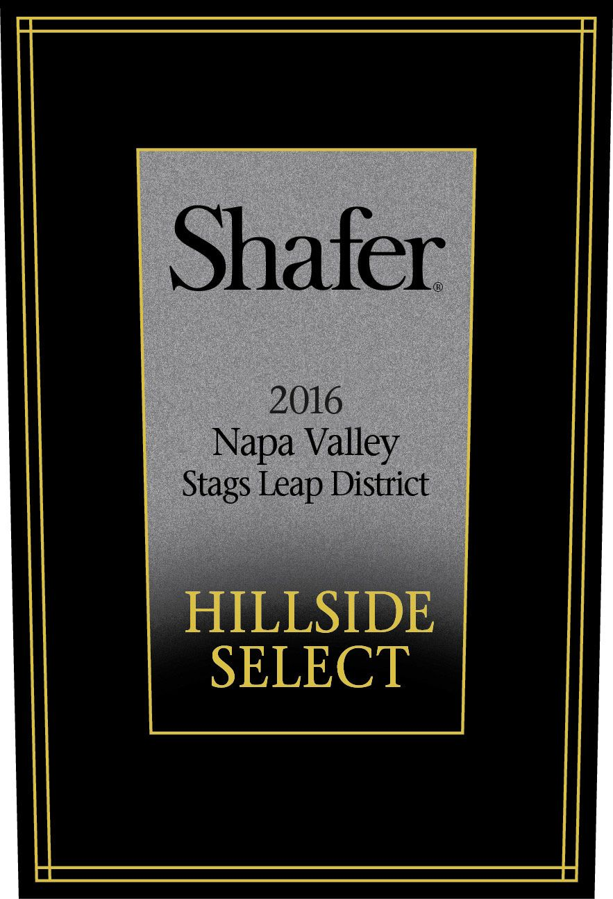 Shafer Hillside Select Cabernet Sauvignon 2016  Front Label