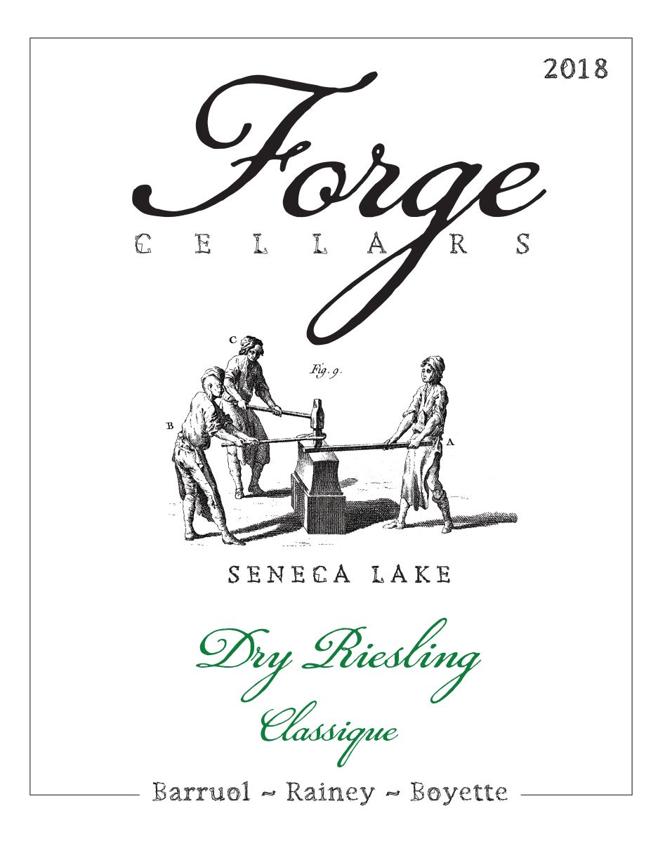 Forge Cellars Classique Riesling 2018  Front Label