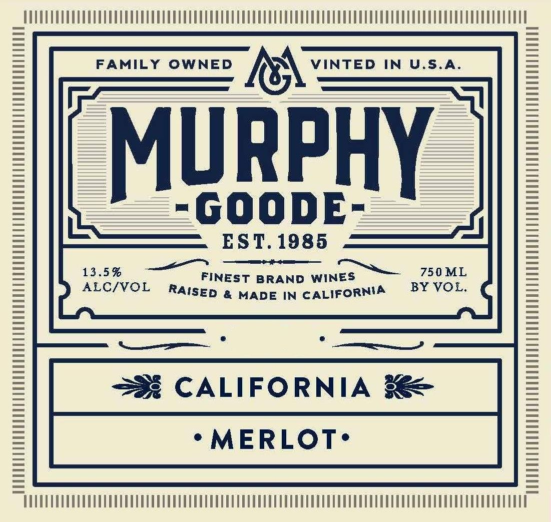 Murphy-Goode California Merlot 2017  Front Label