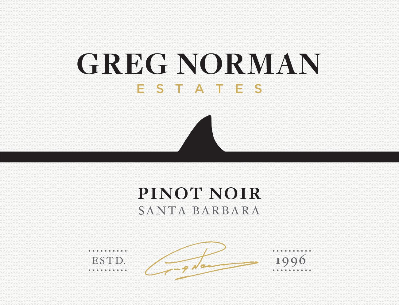 Greg Norman Estates Santa Barbara County Pinot Noir 2017  Front Label